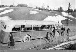Skøyenbuss ved Fossum Spydeberg 1940