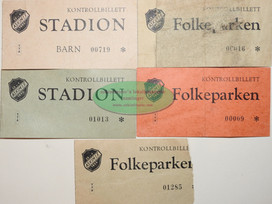 Eldre billetter Askim Folkepark/Stadion