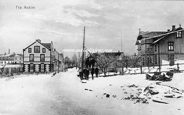 Vammaveien ca 1910.Utgiver Askim papirhandel.Tilhører askimlinjene.com postkortsamling