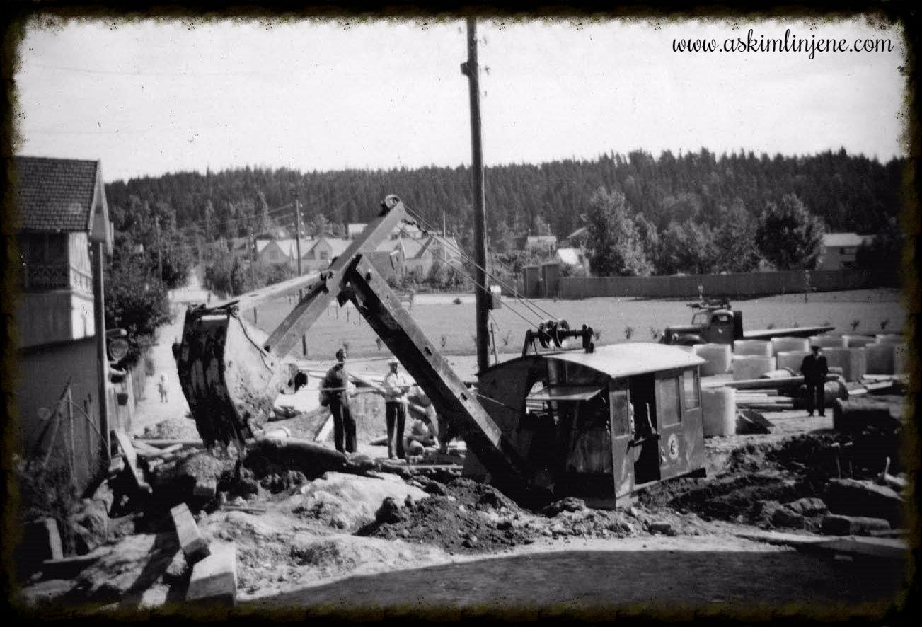 Graving i Høgliveien 1950