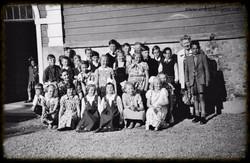 Skolebarn Folkenborg skole juni 1952