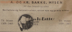 A. og KR.BAKKE