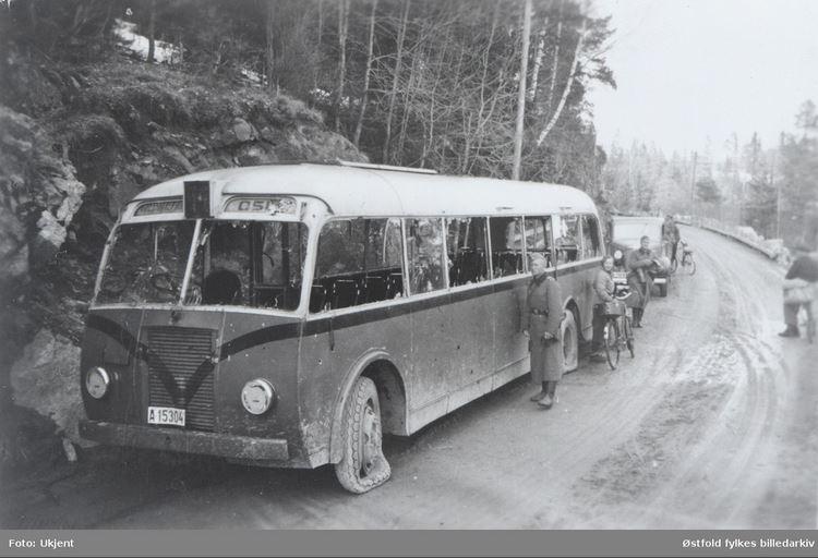 Skøyenbuss v/Fossum Spydeberg 1940
