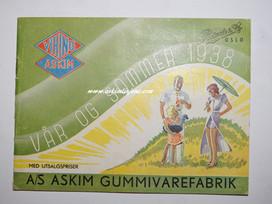 Askim Gummivarefabrik Vår/sommerkatalog 1938