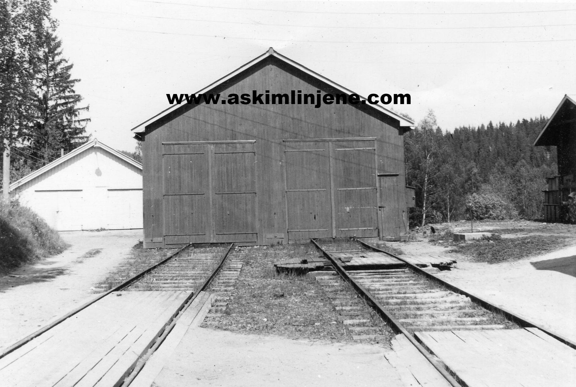 Vognskjulet Solbergfoss 1967
