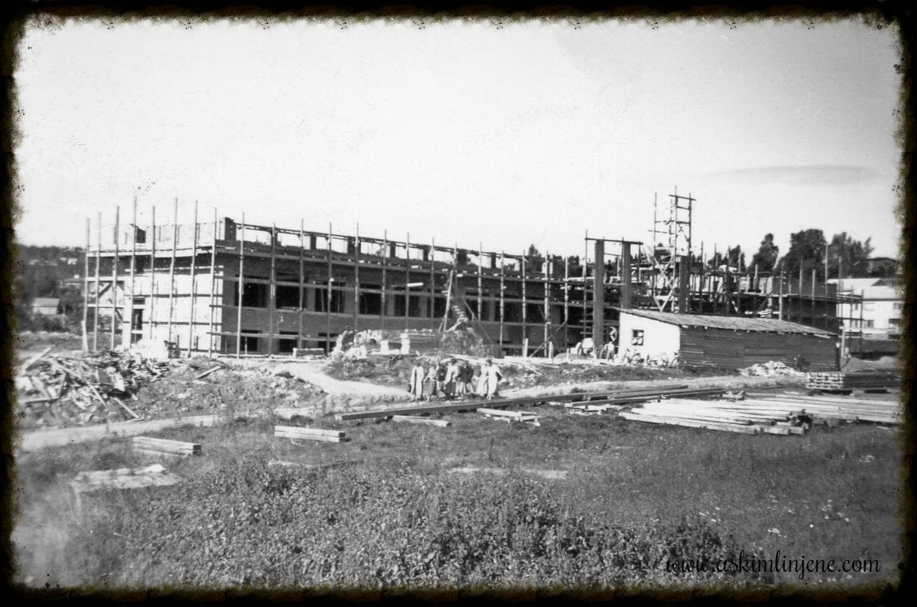 Fra Realskolebygget 1952