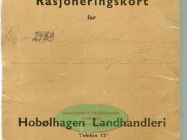 Mappe for Rasjoneringskort Hobølhagen Landhandleri