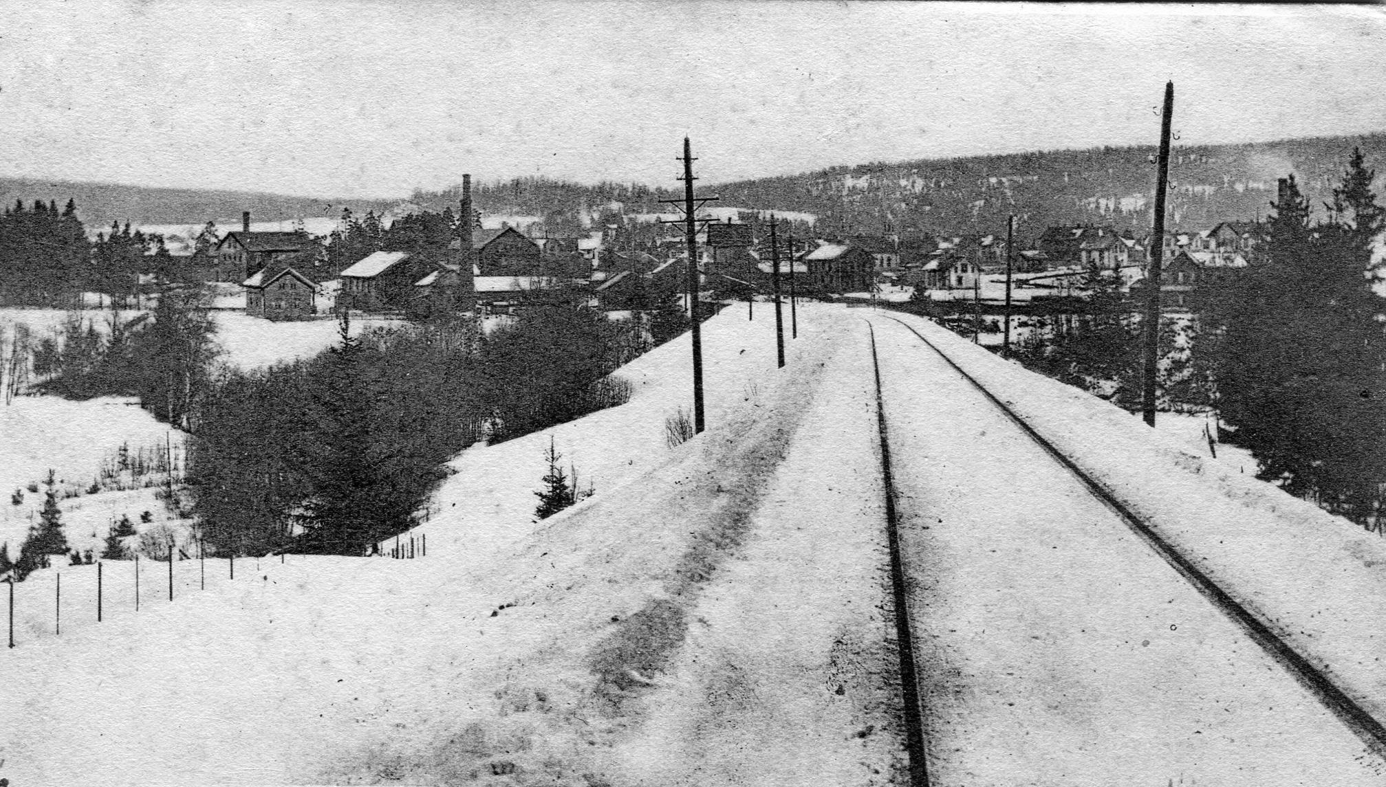 Østre linje v/Mysen 1904
