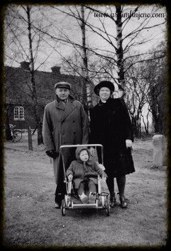 Fam.Kopperud på tur 1949