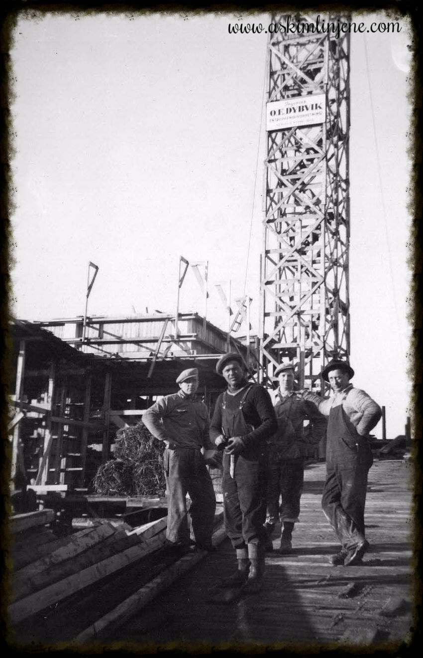 Fra silo-bygget 1953