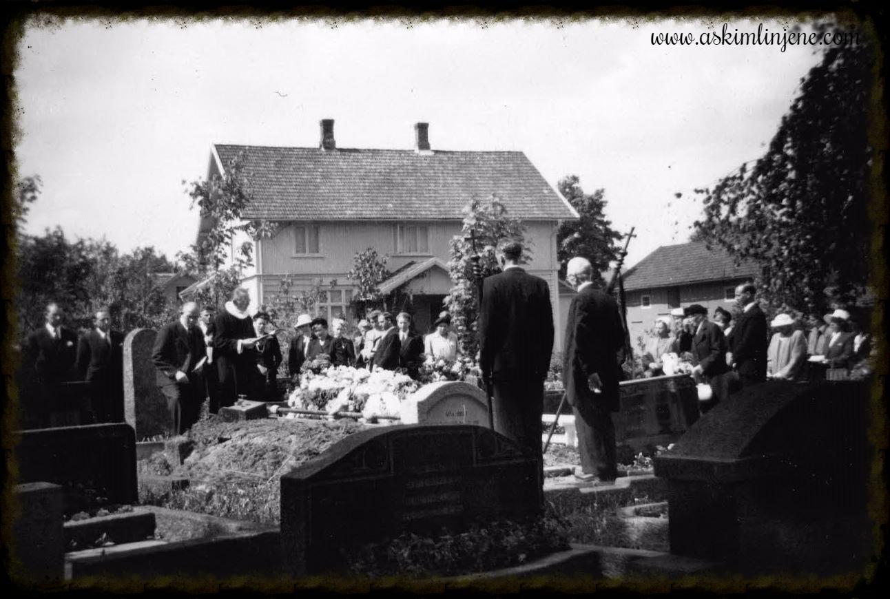 Fru Postmester Nilsens begravelse