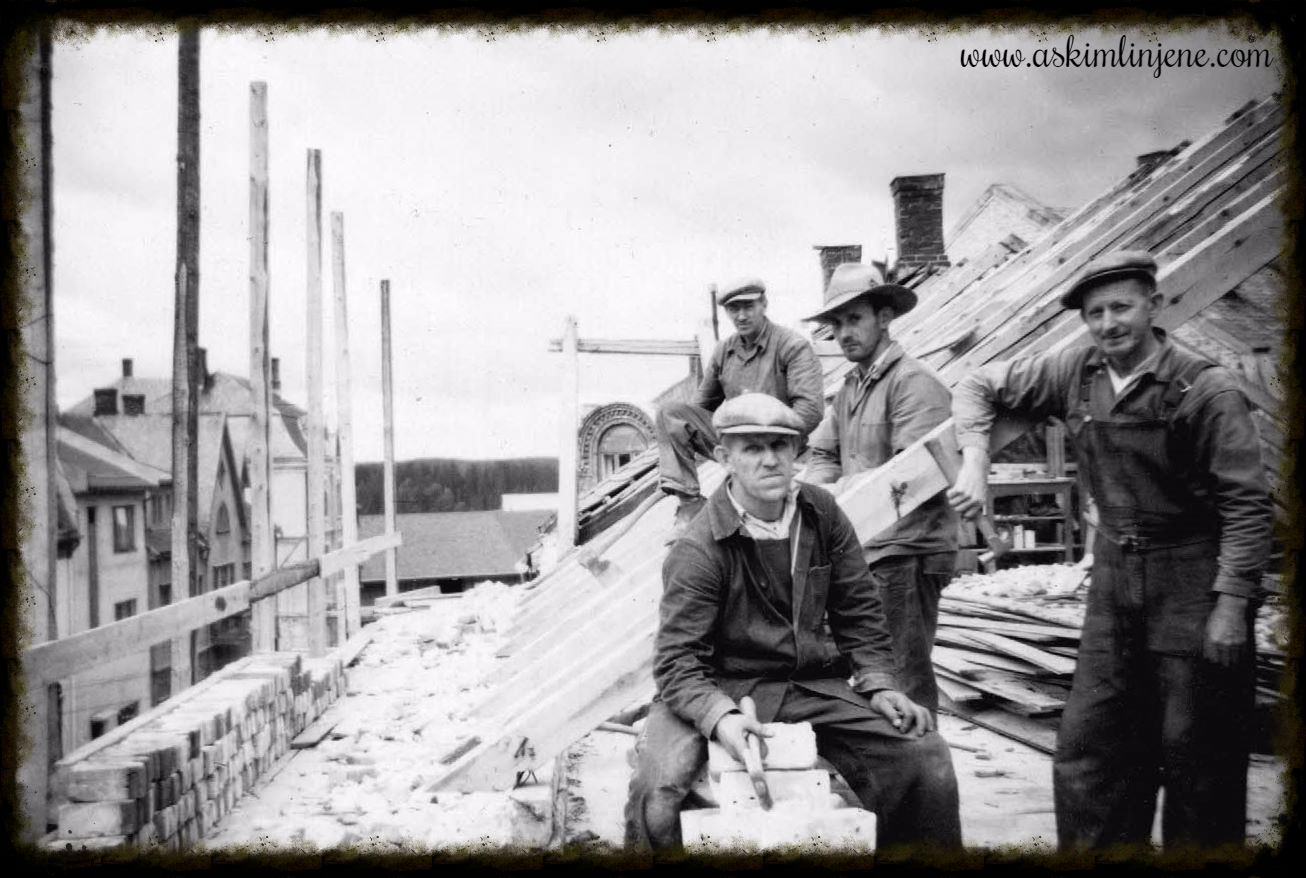 Ombyggingen av Indre-gården 1950