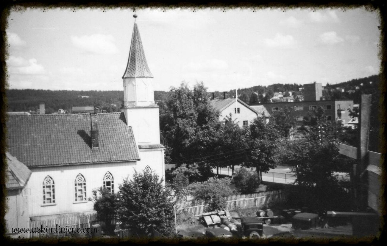 Utsikt fra toppen av Indre 1950