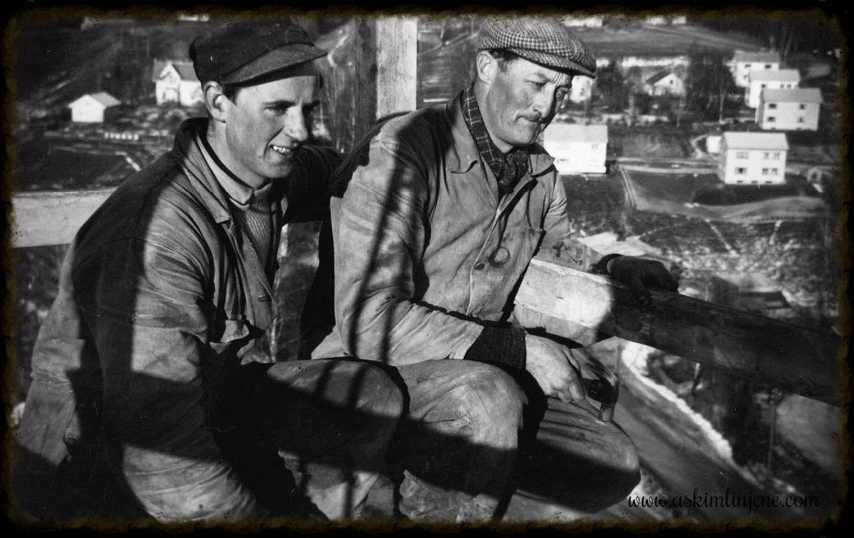Arbeidskarer silobygget 1953