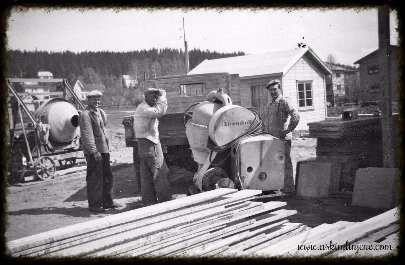 Realskolebygget mai 1952