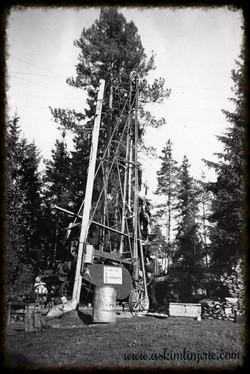 Fra vannboringen ved Susebakke 1952