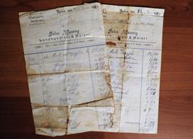 Kvitteringer Johs.Maseng Landhandel 1910