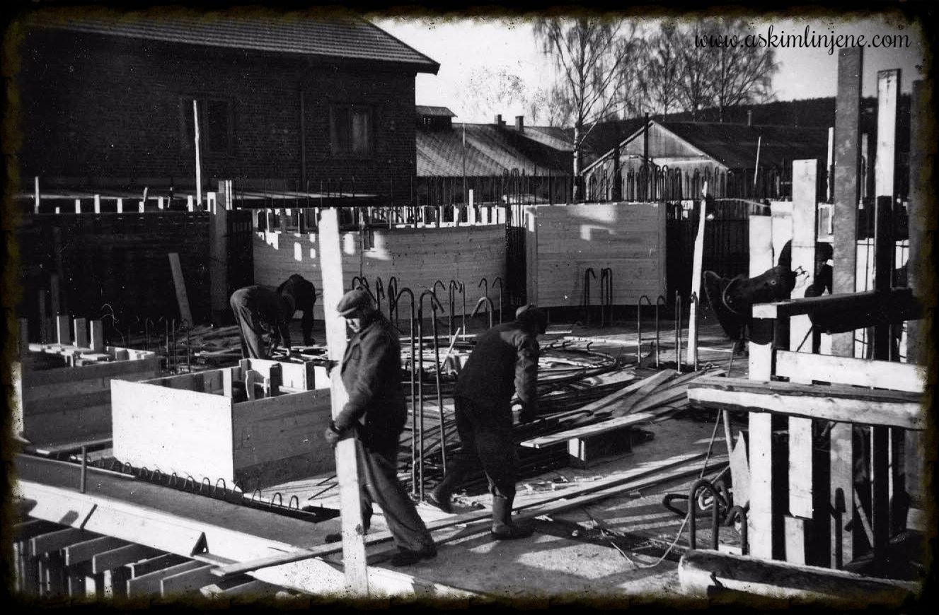 Kornsilobygget januar 1953