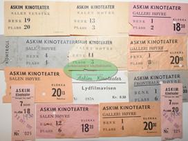 Eldre kinobilletter Askim Kinoteater