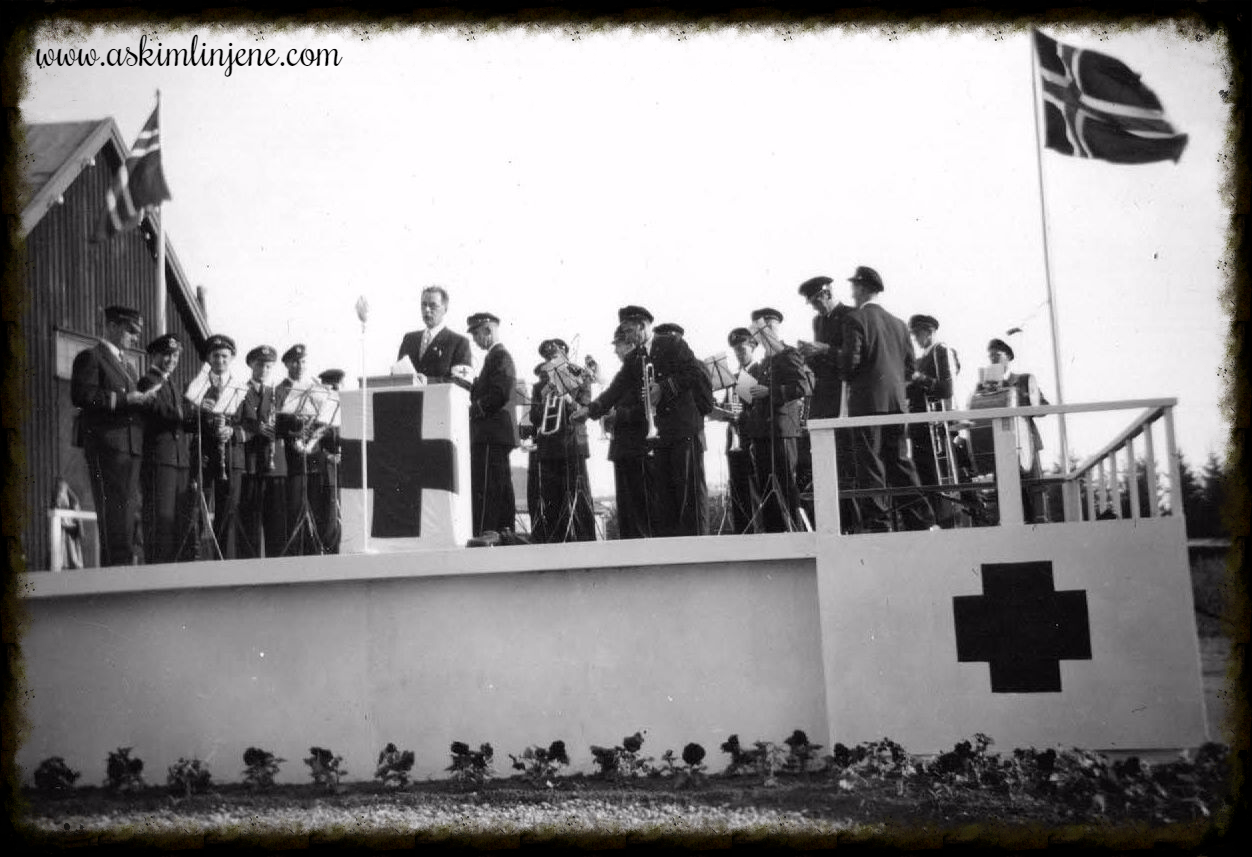 Fra åpningen av Momarken 1950