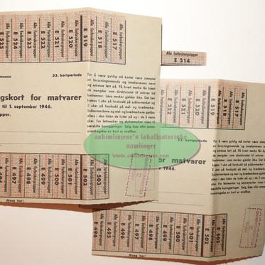 Rasjoneringskort for matvarer 1946