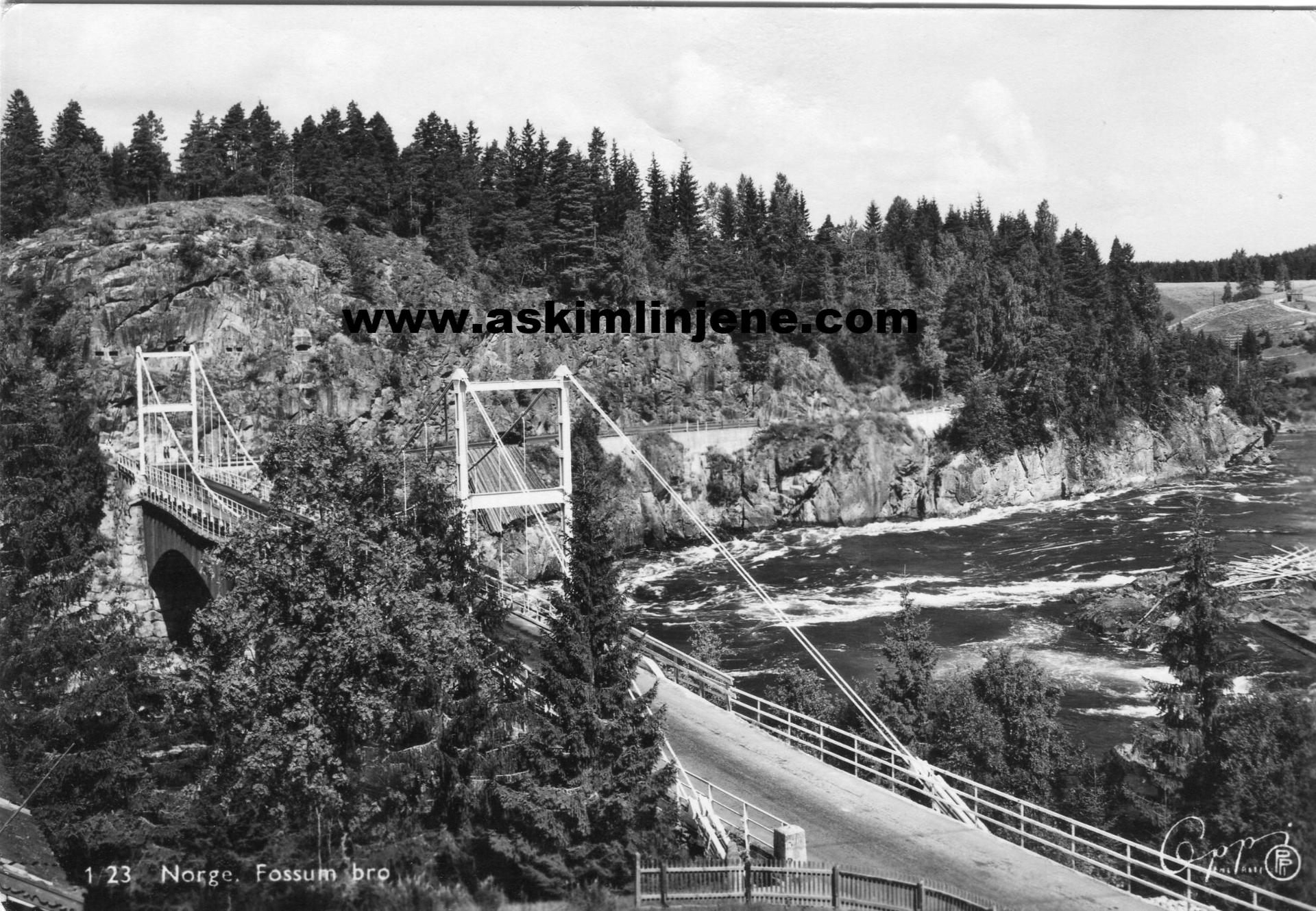 Fossum bro m/interimsbro 1950-tallet
