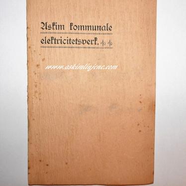 Hefte Askim kommunale Elektricitetsværk 1910