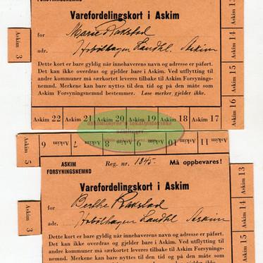 Varefordelingskort i Askim