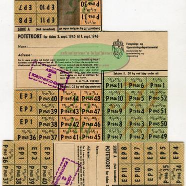 Potetkort 1945/46