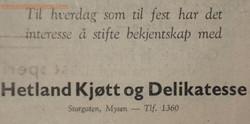 Hetland Kjøtt og Delikatesse
