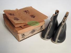 Lette gummistøvler m/glidlås