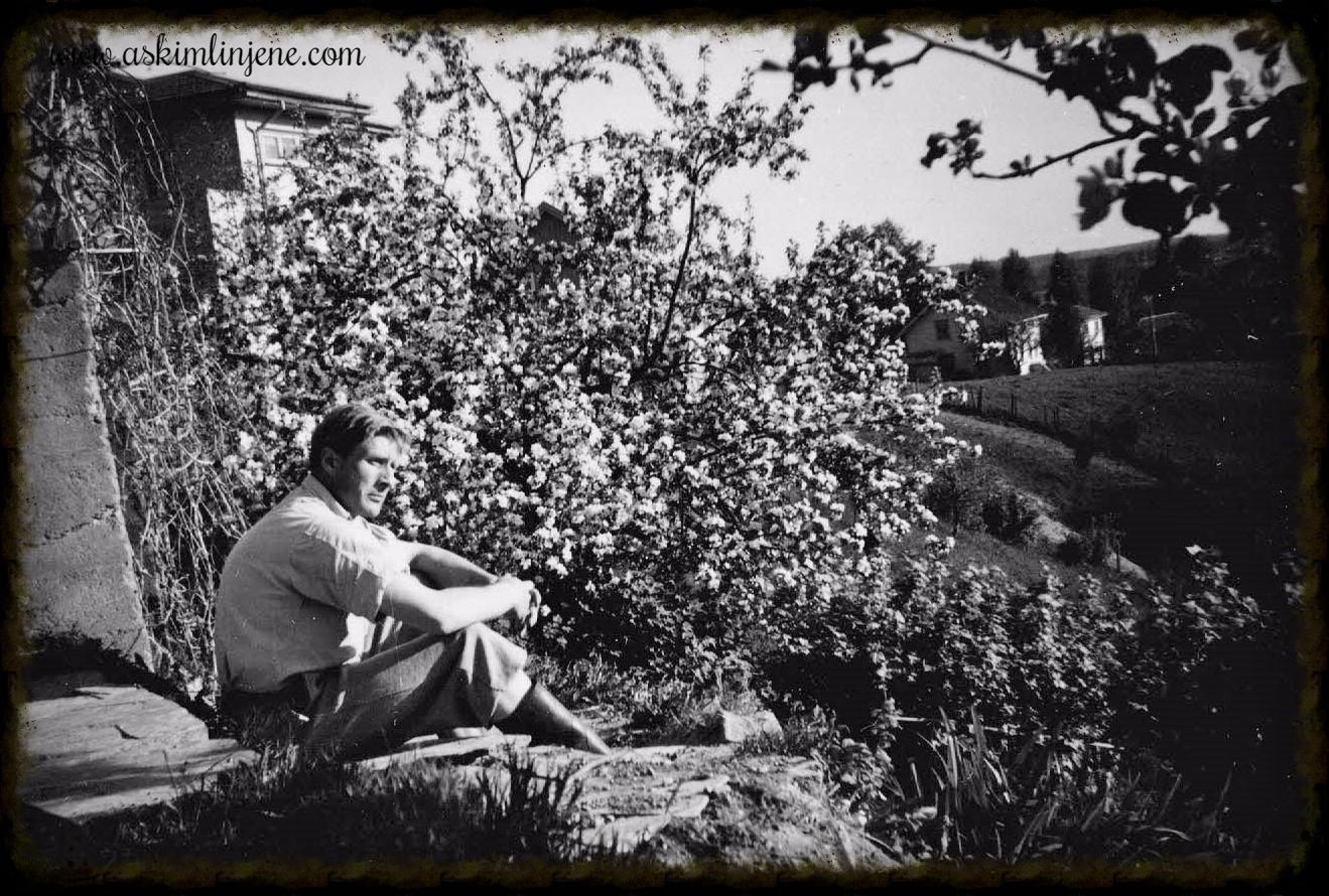 Reidar Berg ved apallen 1952