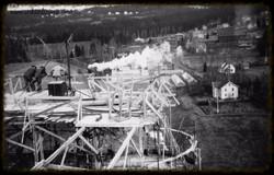 Toppen av silobygget 1953