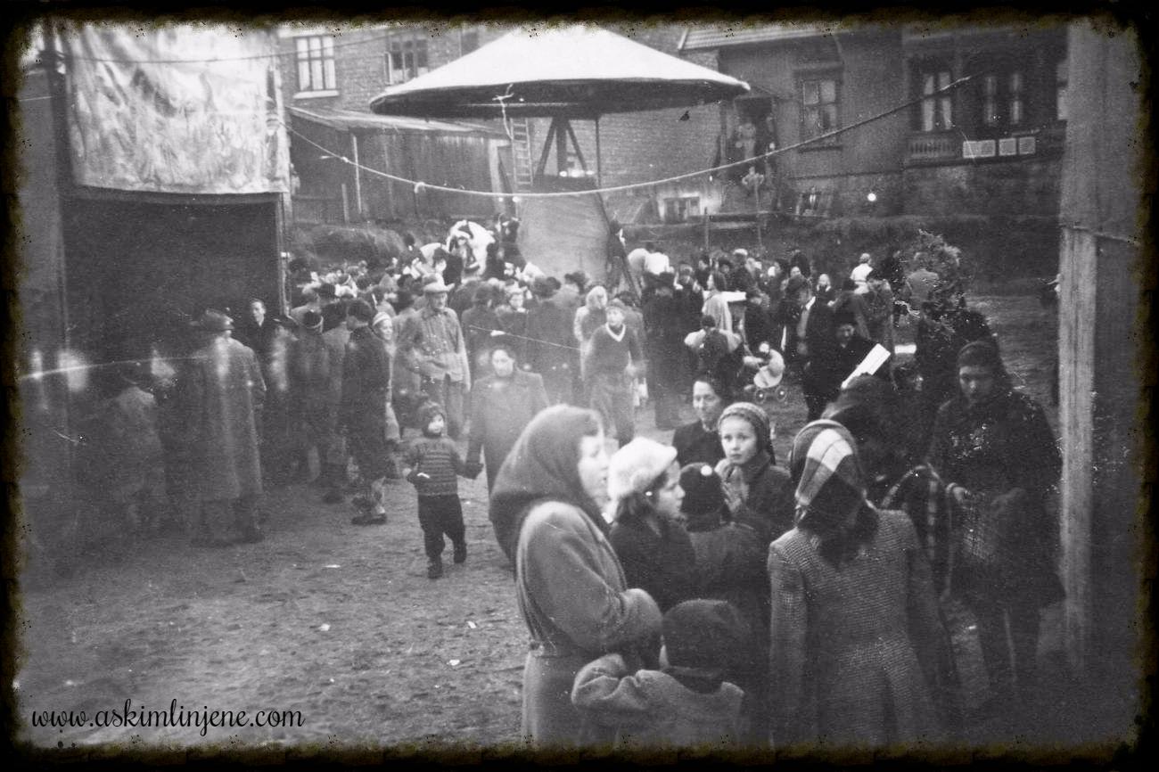 Tivoli på Krosby-tomta 1951