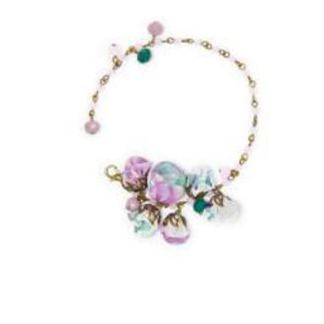 Bracelet LAVANDE boutons de rose