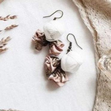 Boucles d'oreille BRIERE boutons de roses