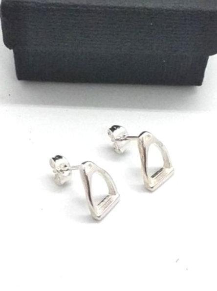 Boucles d'oreille pins ETRIER en plaqué argent