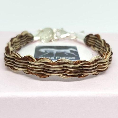 Bracelet TISSAGE avec apprêts en argent