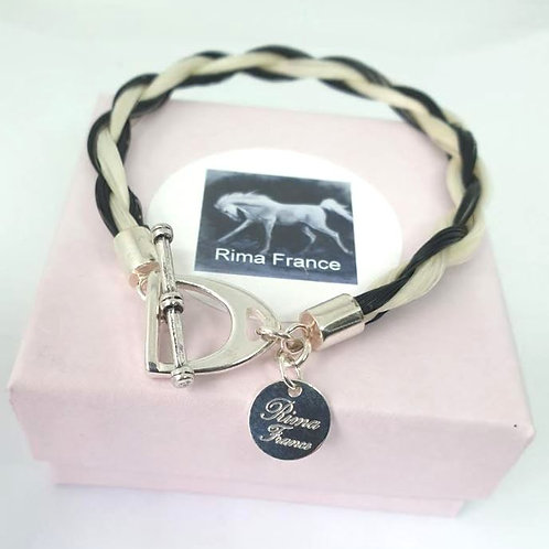 Bracelet ETRIER noir et blanc