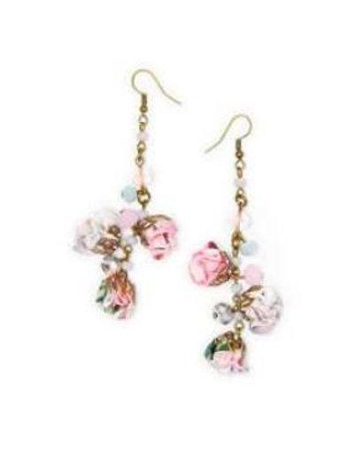 Boucles d'oreille PEONY boutons de roses
