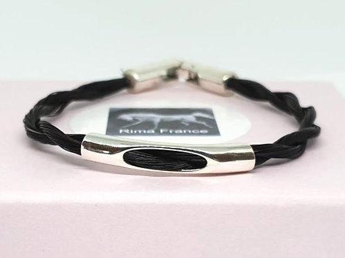 Bracelet ROMA avec passant en argent