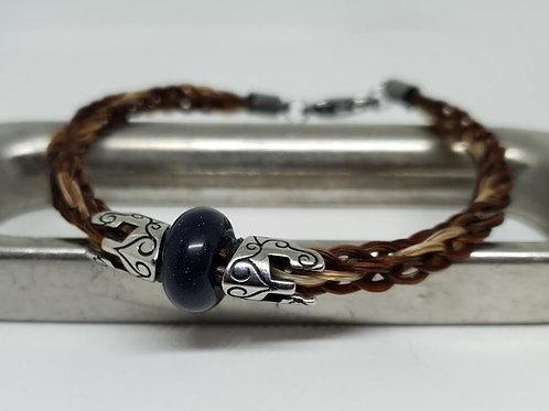 Bracelet SPARTE en crin et pierre naturelle