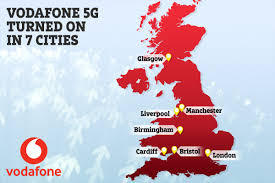 vodaphone 5g coverage in the uk
