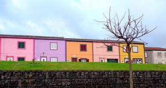 Fishermen houses in Rabo de Peixe (Azores)