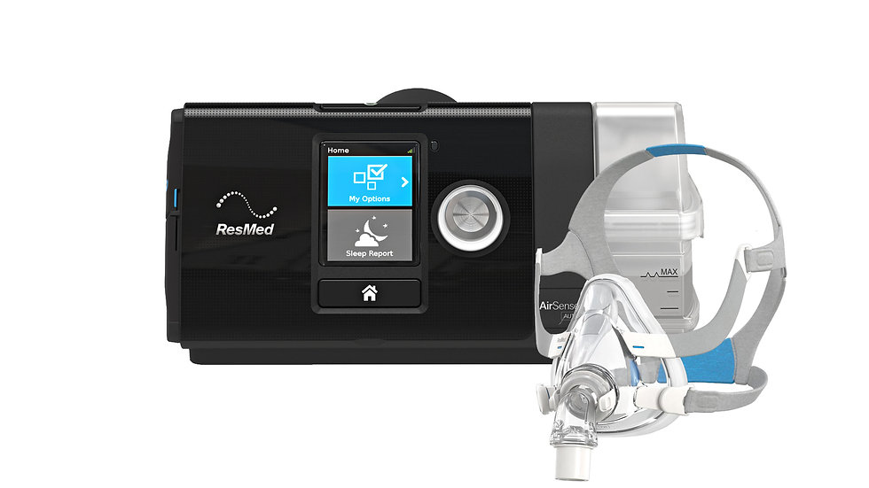 ResMed AirSense 10 AutoSet CPAP with AirFit F20 Full Face Mask