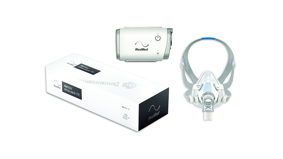 ResMed AirMini AutoSet CPAP AirFit F20 Full Face Mask Bundle