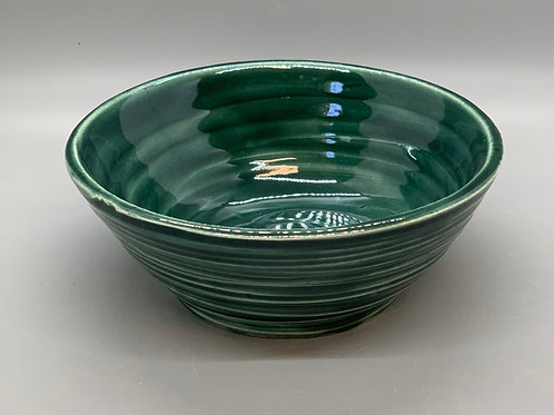 Forest green ice cream bowl