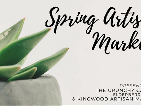 SPRING ARTISAN MARKET: APRIL 18TH, 2021, 10am-4pm: located at Megaton Brewery, 808 Russell Palmer Rd
