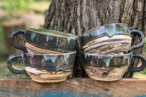 Italian Marbled Mugs
