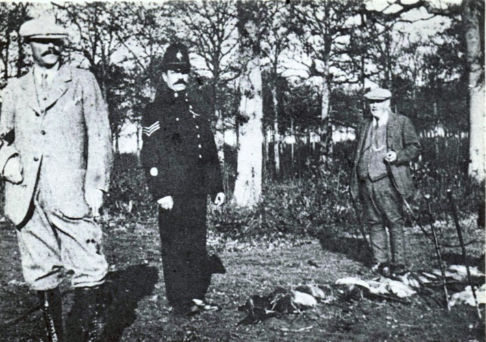 Sir Algernon with Gamekeeper and Village Policeman